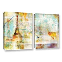 Roozbeh Bahramali's 'French Connection' 2-piece Gallery Wrapped Canvas Set