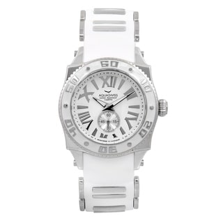 AQS Unisex Swissport G White Silicone and Stainless Steel Watch