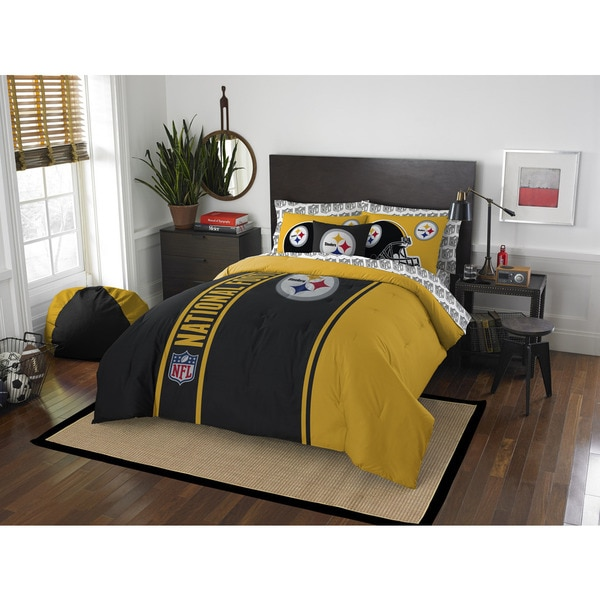 The Northwest Company NFL Pittsburgh Steelers Full 7-piece Bed in a Bag with Sheet Set
