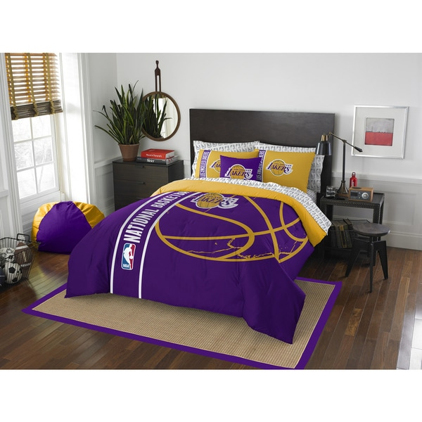 The Northwest Company NBA Los Angeles Lakers Full 7-piece Bed in a Bag with Sheet Set