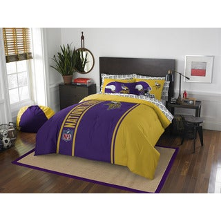 NFL 846 Vikings Full 7-piece Bed in a Bag with Sheet Set