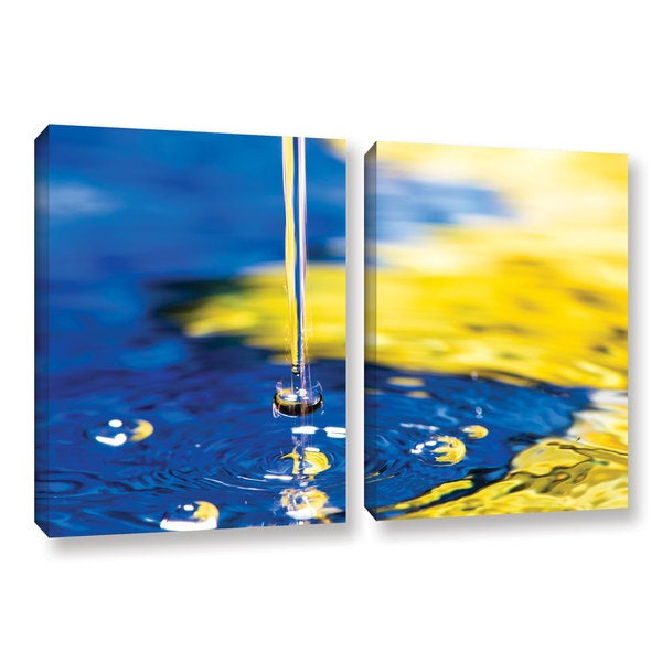 David Stahl's 'Yellow Blue Diving Bell' 2-piece Gallery Wrapped Canvas Set