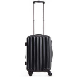 CalPak Verdugo Black ABS 19.5-inch Expandable Hardside Spinner Carry-on Upright Suitcase