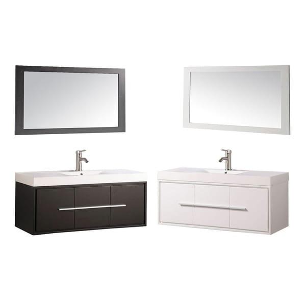 Mtd Vanities Wood Acrylic 48 Inch Single Sink Wall Mounted Floating Bathroom
