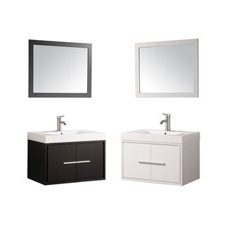 Cypress Single-sink Wall-mounted Floating Bathroom 30-inch Vanity Set