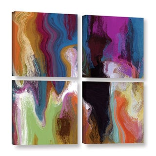 Irena Orlov's 'The Story Within III' 4-piece Gallery Wrapped Canvas Square Set