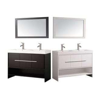 Cypress 48-inch Double-sink Wall-mounted Bathroom Vanity Set