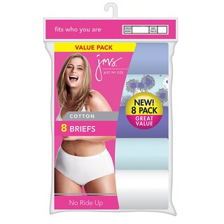 Just My Size Cotton Women's Assorted Tagless Brief Panties