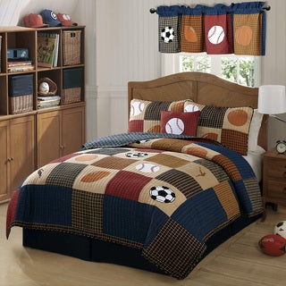 Laura Hart Kids Classic Sports 3-piece Quilt Set