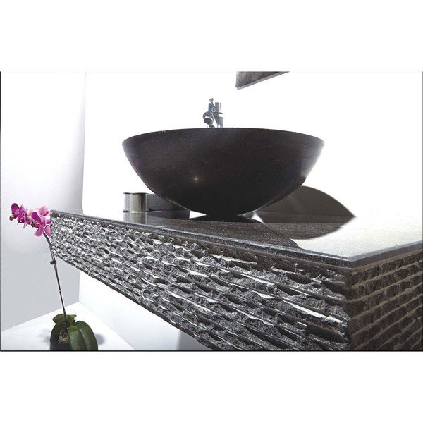 Mtd Vanities Rome Blue Stone 36 Inch Single Vessel Wall Mount Sink Free Shipping Today