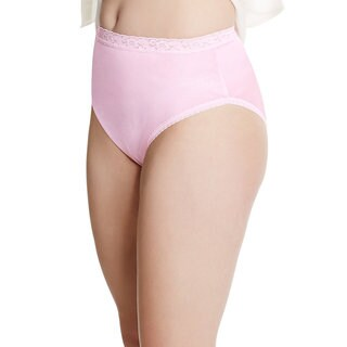 Just My Size Women's Nylon 4-pack Assorted Briefs