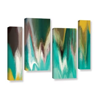 Irena Orlov's 'Tranquility' 4-piece Gallery Wrapped Canvas Staggered Set
