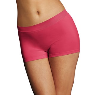 Maidenform Women's Pure Genius Pink About It Pink Nylon/Polyester/Spandex Seamless Boyshort