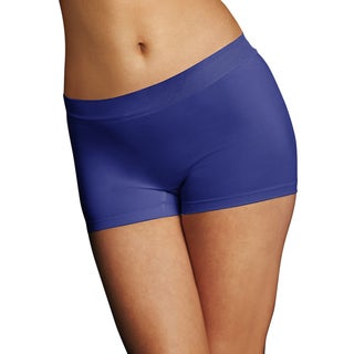 Maidenform Women's Pure Genius Blue Nylon, Polyester, Spandex Seamless Boyshort