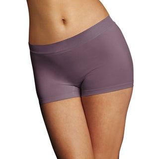 Maidenform Women's Rum Raisin Pure Genius Seamless Boyshort