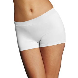 Maidenform Women's White Pure Genius Seamless Boyshorts