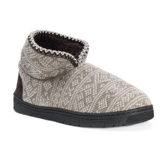 Muk Luks Men's Mark Brown Acrylic/Polyester/Faux-fur Slippers