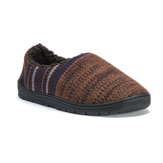 Muk Luks Men's Brown Acrylic and Polyester John Slippers