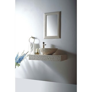 "MTD Vanities Rome Natural Beige Galala Marble Stone 36"" Wall Mount Single Vessel Sink Vanity Set"