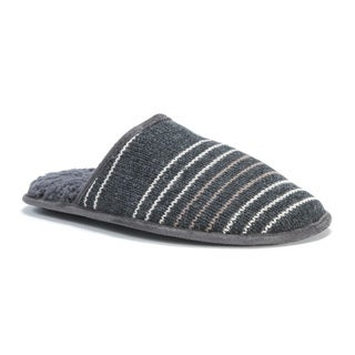 MUK LUKS� Men's Grey Acrylic and Polyester Gavin Slippers
