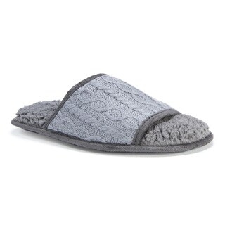 Muk Luks Men's Andy Grey Acrylic/Polyester Slippers