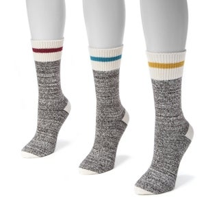 Muk Luks Women's Striped Marl Boot Socks (3-pair Pack)