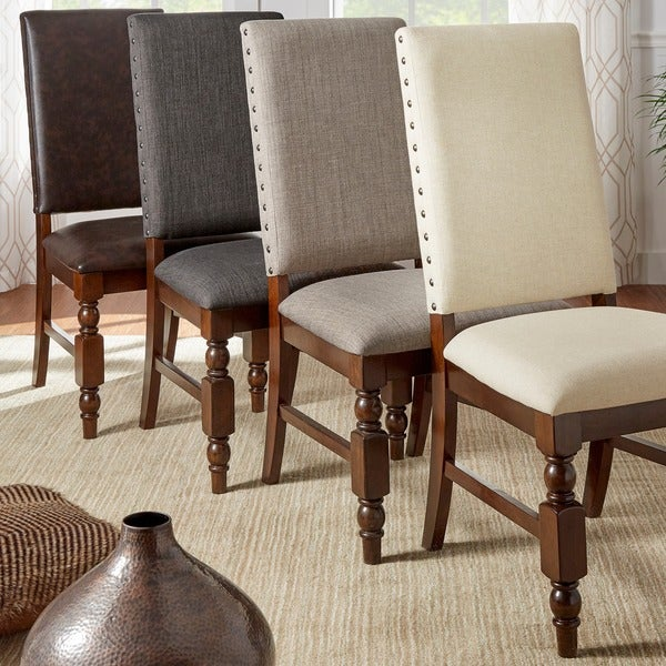 Shop TRIBECCA HOME Flatiron Nailhead Upholstered Dining