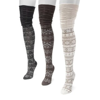 Muk Luks Women's Microfiber Over-the-knee Socks (3-pair Pack)