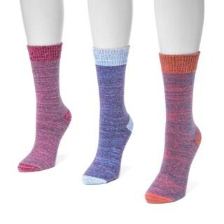 Muk Luks Women's Microfiber Boot Socks (Pack of 3 Pairs)