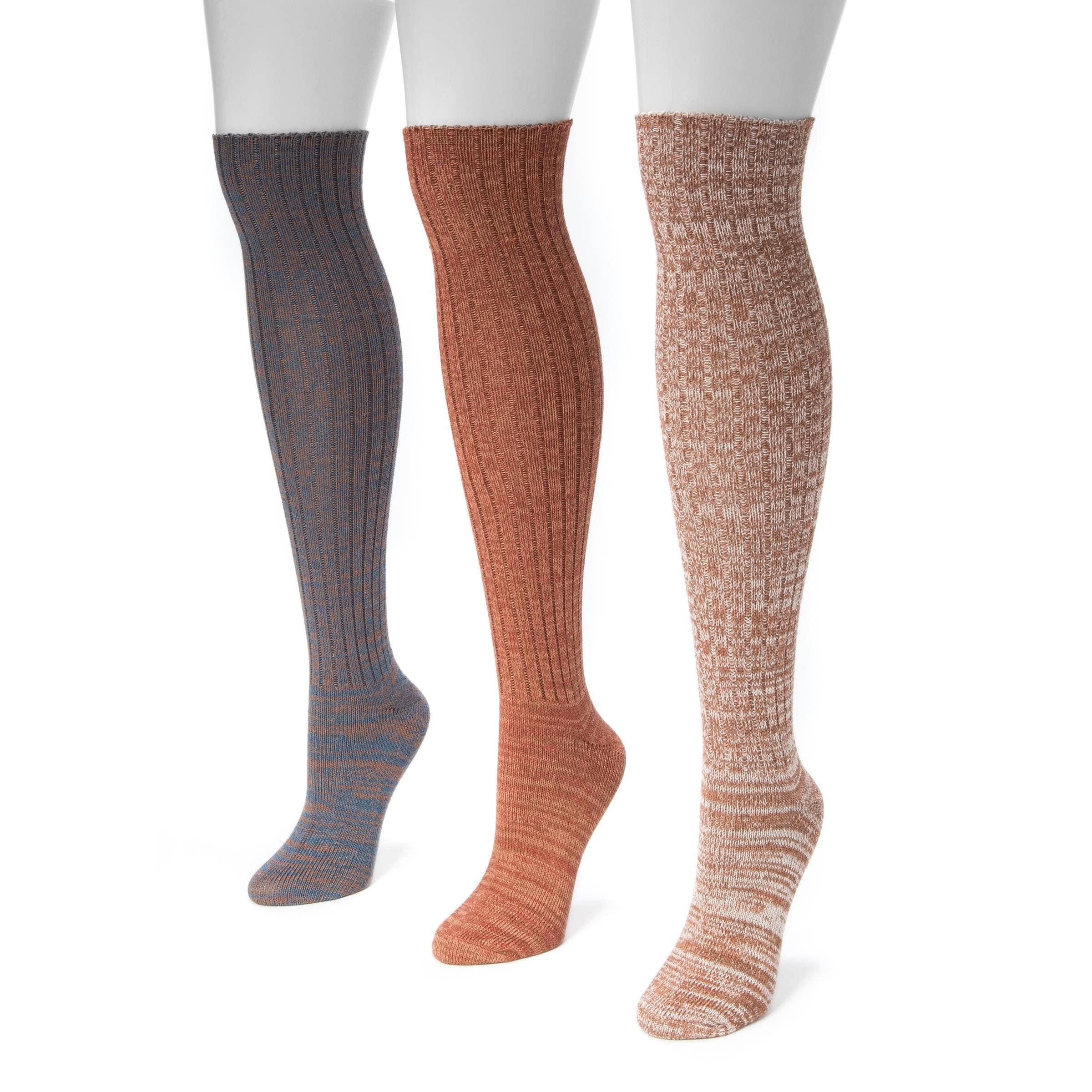 Mukluks Women's Marl Knee-high Socks (Pack of 3) (Osfm Mu...