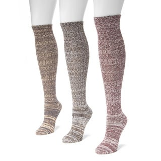 Muk Luks Women's 3-pair Pack Marl Knee-high Socks
