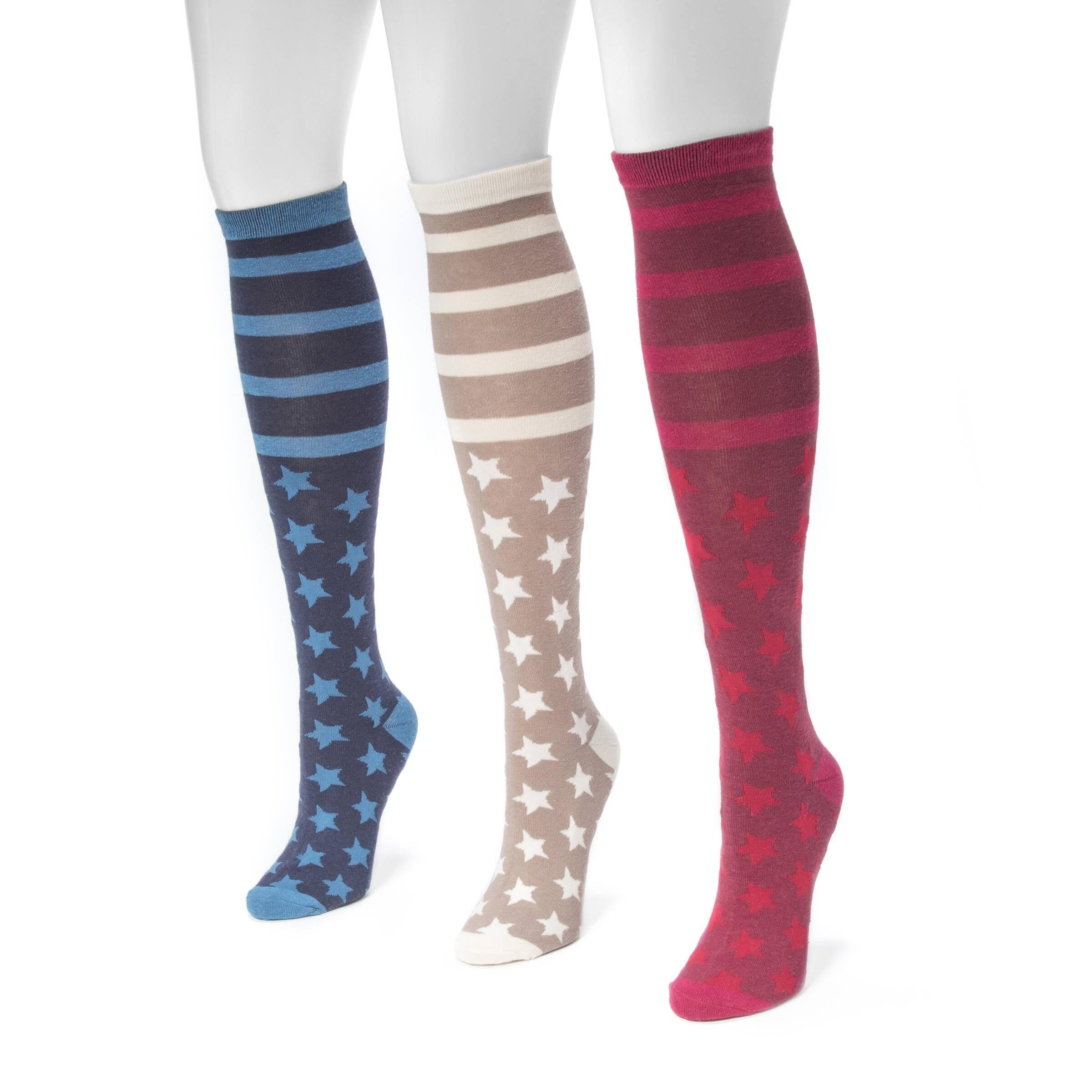 Mukluks Women's Jacquard Knee-high Socks (3-pair Pack) (O...