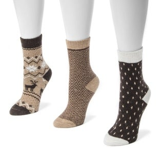 Muk Luks Women's Holiday Boot Socks (3-pair Pack)