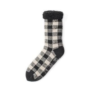 Muk Luks Men's Brown Acrylic Polyester Cabin Socks