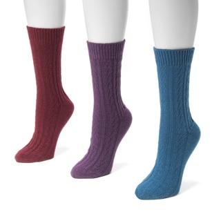 Muk Luks Women's Cable Boot Socks (Pack of 3)