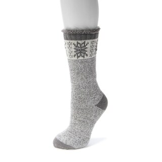 MUK LUKS Women's 1-Pair Heat Retainer Thermal Insulated Socks