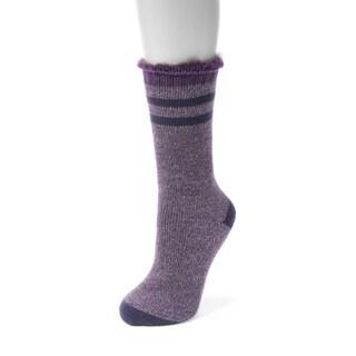 MUK LUKS Women's 1-Pair Heat Retainer Thermal Insulated Socks