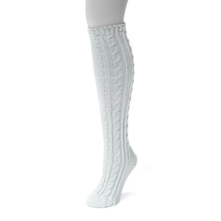 Muk Luks Women's 1-pair Solid Knee-high Socks