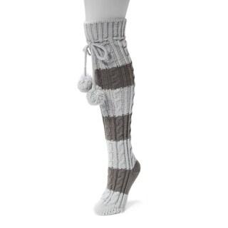 MUK LUKS® Women's 1-pair Knee-high Cable Socks