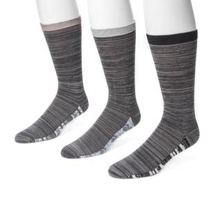 Muk Luks Men's Marled Grey Nylon and Rayon Sock (Pack of 3)