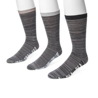 Muk Luks Men's Marled Grey Nylon and Rayon Sock (Pack of 3)