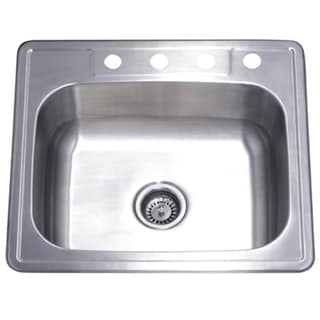 Single Bowl Self Rimming 25 Inch Stainless Steel Kitchen Sink