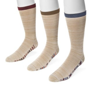 Muk Luks Men's Tan Nylon/Rayon Marled Socks (Pack of 3 Pairs)