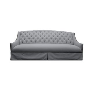 Mason Tufted Linen Sofa