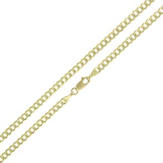 14k Gold 3mm Solid Cuban Curb Link Chain Necklace|https://ak1.ostkcdn.com/images/products/12136415/P18993089.jpg?impolicy=medium