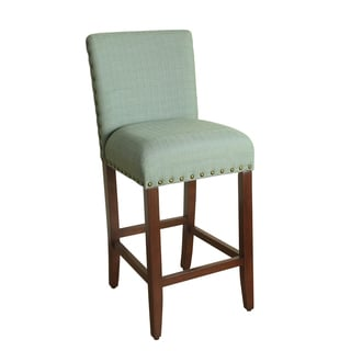 HomePop 29-inch Bar Height Seafoam Upholstered Barstool