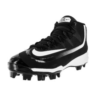 Nike Men's Huarache 2Kfilth Pro Mid Mcs Black/White Baseball Cleat