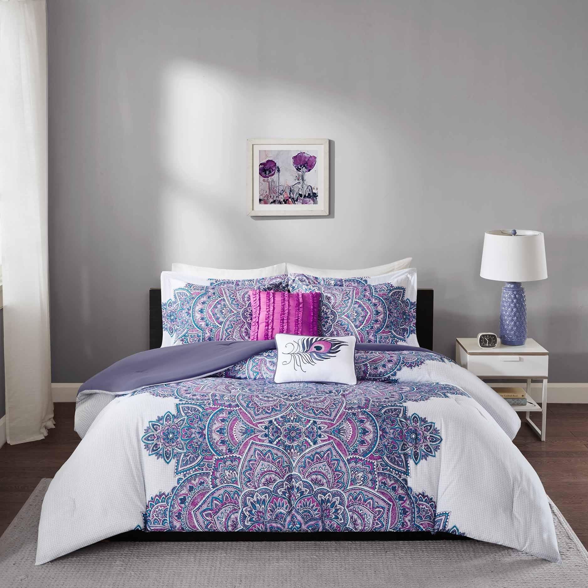 Shop Intelligent Design Katarina Purple Comforter Set Overstock 12136501,Beautiful Simple Easy Rangoli Designs For Diwali