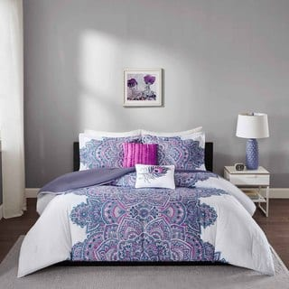 purple bedroom sets. Intelligent Design Katarina Purple Comforter Set Sets For Less  Overstock com