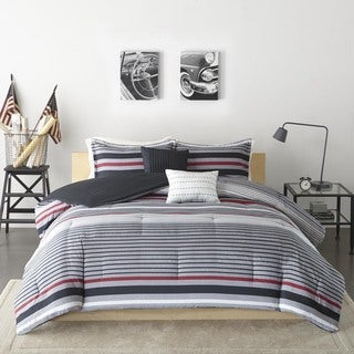 Intelligent Design Jason Black/ Red Comforter Set